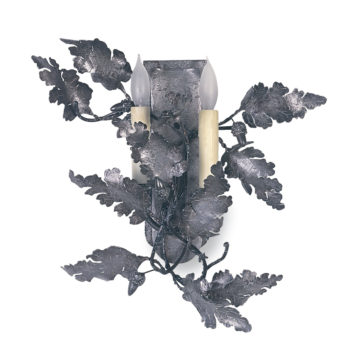 sconces-iron-oak-leaf